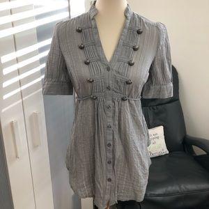 Grey & silver blouse